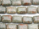 Epidote Rectangular Tabular Gemstone Beads 20mm (GS410)