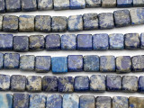 Lapis Lazuli Square Tabular Gemstone Beads (double drilled) 11mm (GS471)