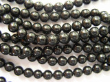 Jet Round Gemstone Beads 6-7mm (GS311)