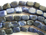 Sodalite Rectangular Block Gemstone Beads (GS428)