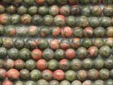 Unakite Round Gemstone Beads 4mm (GS336)