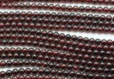 Garnet Round Gemstone Beads 4-5mm (GS151)