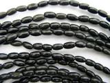Black Onyx Rice Gemstone Beads 6mm (GS213)