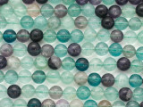 Rainbow Fluorite Round Gemstone Beads 8mm (GS154)
