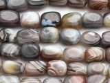 Botswana Agate Irregular Block Gemstone Beads 10-14mm (GS232)