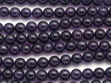 Dark Amethyst Round Gemstone Beads 8mm (GS195)