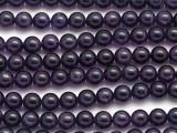 Dark Amethyst Round Gemstone Beads 8mm (GS195)