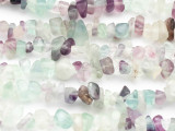 "Rainbow Fluorite Chip Gemstone Beads - 34"" strand (GS448)"