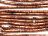 Small Copper Heishi Beads 3-4mm (ME5604)
