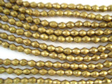 Brass Bicone Metal Beads 6-8mm - Ethiopia (ME40)