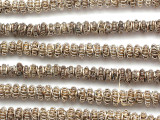 Fancy Silver Metal Wire Beads - Ghana (ME5605)