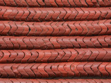Old Brick Red Glass Snake Trade Beads 8mm (AT72)