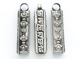 Silver Tibetan Prayer Box Pendant (TB124)