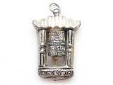 Silver Tibetan Prayer Wheel Pendant (TB125)