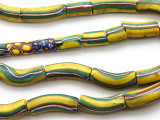 Rare Strand of Striped Elbow Beads (RF9057)