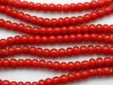 Red White Heart Trade Beads 8mm (AT3775)