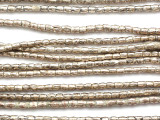 Small Silver Irregular Cylinder Beads 3mm - Ethiopia (ME58)