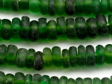 Green Recycled Glass Beads 12-18mm - Indonesia (RG357)