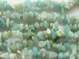 "Amazonite Chip Gemstone Beads - 30"" strand (GS498)"
