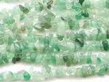 "Green Aventurine Chip Gemstone Beads - 32"" strand (GS502)"
