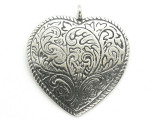 Western Heart - Pewter Pendant (PW12)