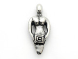 Key Spiral Goddess - Pewter Pendant (PW14)