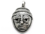 African Mask - Pewter Pendant (PW25)