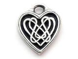 Celtic Heart - Pewter Pendant (PW21)