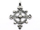 Ethiopian Coptic Cross - Pewter Pendant (PW32)