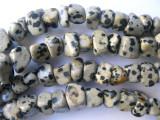 Dalmatian Jasper Blocky Nugget Gemstone Beads (GS567)