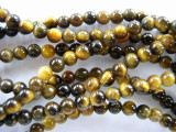 Tiger Eye Round Gemstone Beads 4mm (GS646)