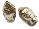 Silver Plated Brass Buddha Amulet 48mm (AP811)