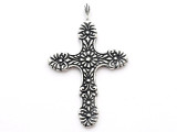 Floral Cross - Pewter Pendant (PW44)