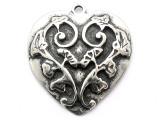 Garden Heart - Pewter Pendant (PW54)