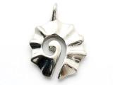 Maori Fan Spiral - Pewter Pendant (PW71)