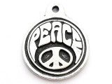 Groovy Peace - Pewter Pendant (PW74)