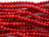 Red Bamboo Coral Round Beads 3-4mm (CO40)