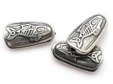 Salmon - Northwest Totem - Pewter Bead/Talisman (PWT07)