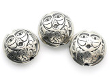 Spindle Whorl Man - Northwest Totem - Pewter Bead/Talisman (PWT12)