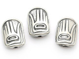 Greeting - Northwest Totem - Pewter Bead/Talisman (PWT18)