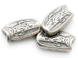 Salmon Leaping - Northwest Totem - Pewter Bead/Talisman (PWT21)