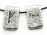 "Runestone Astrology Pewter Pendant - ""Feoh"" - June/July (PWR1)"