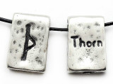 "Runestone Astrology Pewter Pendant - ""Thorn"" - July/August (PWR3)"