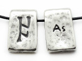 "Runestone Astrology Pewter Pendant - ""As"" - August (PWR4)"