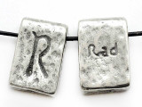 "Runestone Astrology Pewter Pendant - ""Rad"" - August/September (PWR5)"