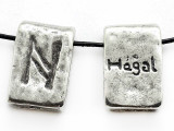 "Runestone Astrology Pewter Pendant - ""Hagal"" - October/November (PWR9)"