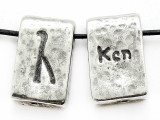 "Runestone Astrology Pewter Pendant - ""Ken"" - September (PWR6)"