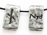 "Runestone Astrology Pewter Pendant - ""Nyd"" - November (PWR10)"