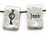 "Runestone Astrology Pewter Pendant - ""Jera"" - December (PWR12)"