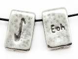 "Runestone Astrology Pewter Pendant - ""Eoh"" - December/January (PWR13)"